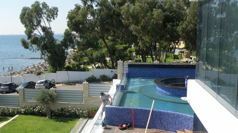 Infinite pool in Cyprus