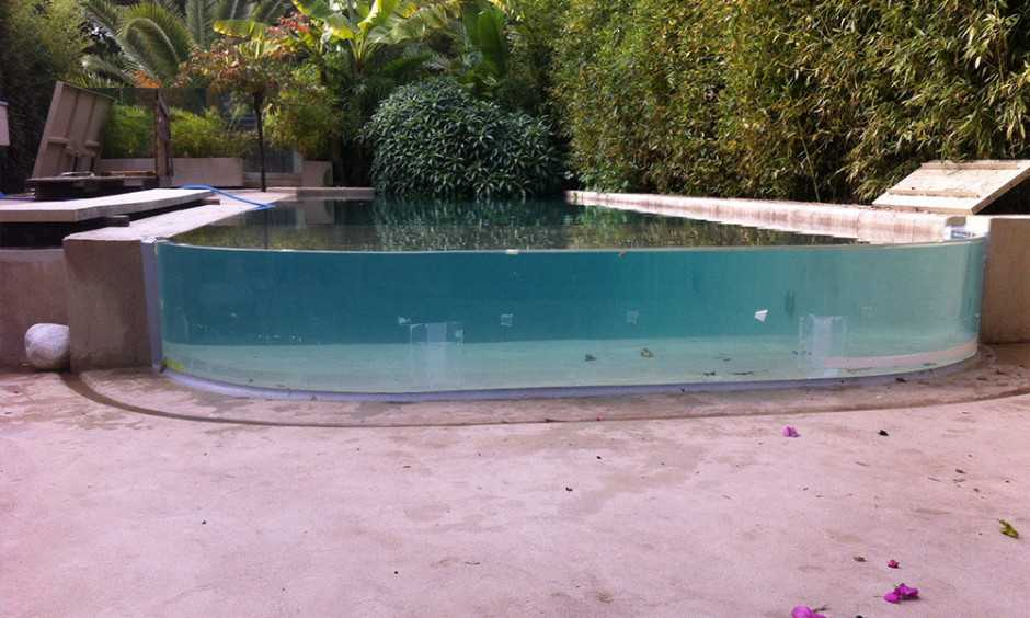 RCast acrylic pool in Athens VIP Villa Finished