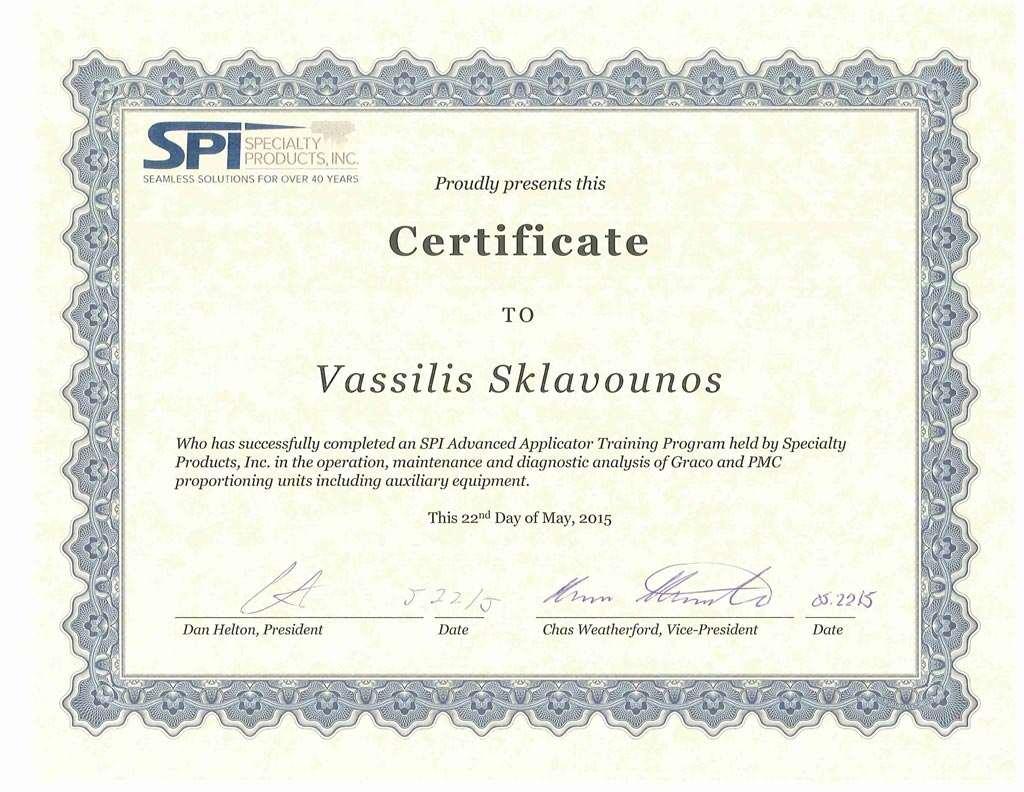 Certified Polyurea Coatings Applicator - News - Aqualife