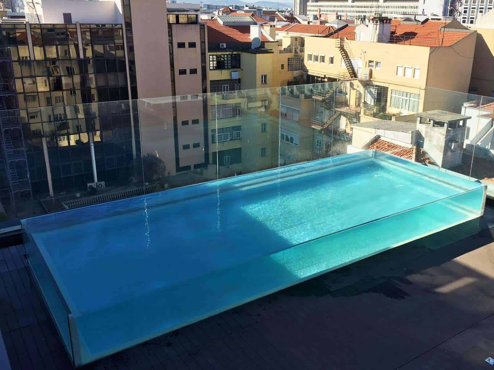 4 Side Transparent Swimming Pool Acrylic Panel Installations