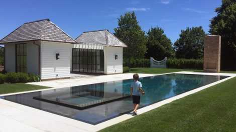 Swimming Pool Panel Installation and Waterproofing at Villa