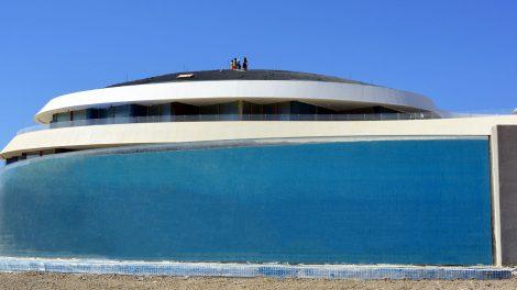 Curved Pool Window - Curved Pool Window